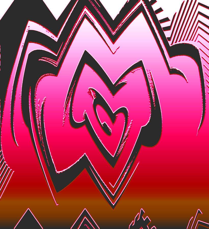 Moveonart Abstractheart Digital Art by Jacob Kanduch