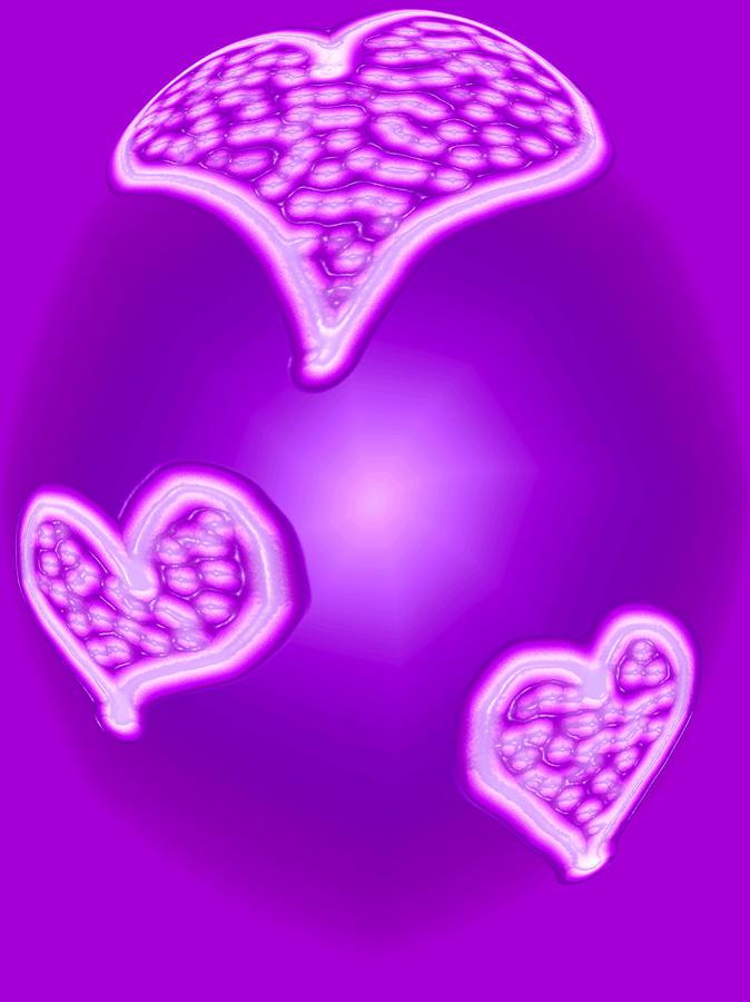 Moveonart Heartmoodinpurple Digital Art
