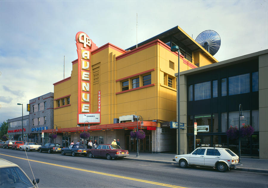 1980s Photograph - Movie Theaters, Fourth Avenue Theatre by Everett