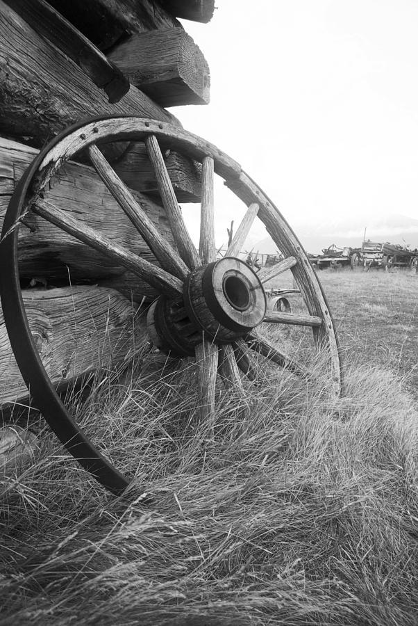 Wheel Photograph - Moving Memories by Wayne Stadler