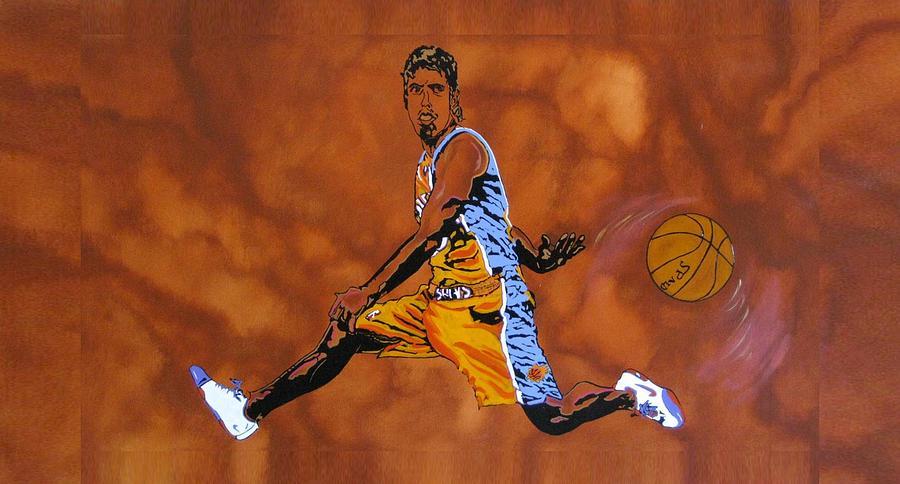 Sports Painting - Mr Assist Steve Nash by Bill Manson