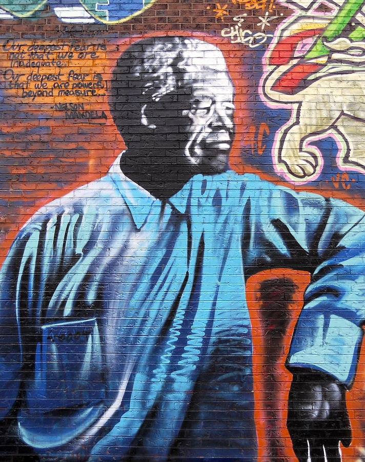Graffiti Photograph - Mr. Nelson Mandela by Juergen Weiss
