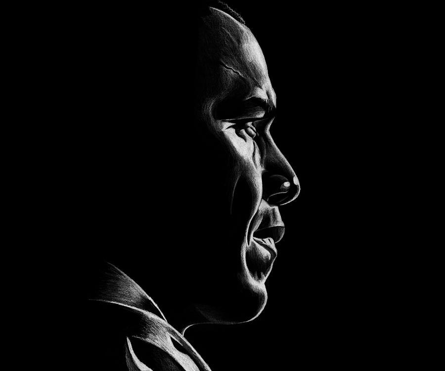 Barack Drawing - Mr. President by Jeff Stroman