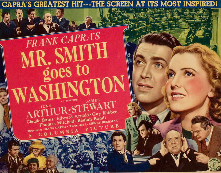 1930s Movies Photograph - Mr. Smith Goes To Washington, James by Everett