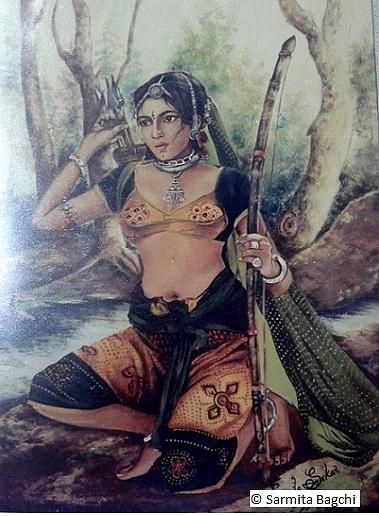 Mrignayani Painting by Sarmita Bagchi