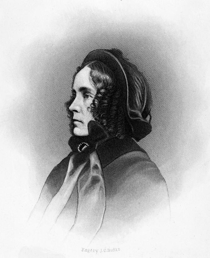 19th Century Portrait Photograph - Mrs. Franklin Pierce, Engraved By Jc by Everett