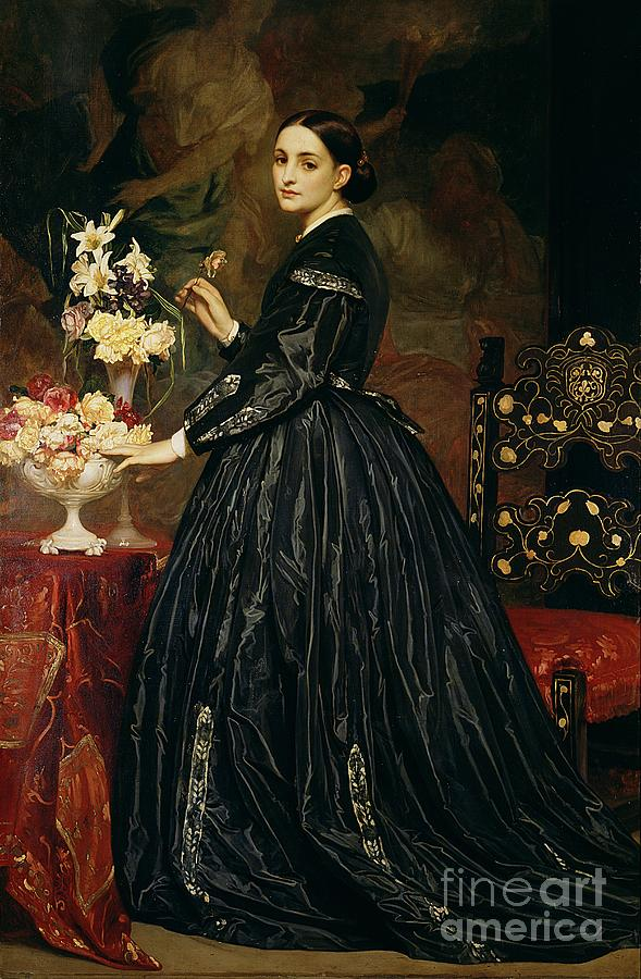 Mrs Painting - Mrs James Guthrie by Frederic Leighton