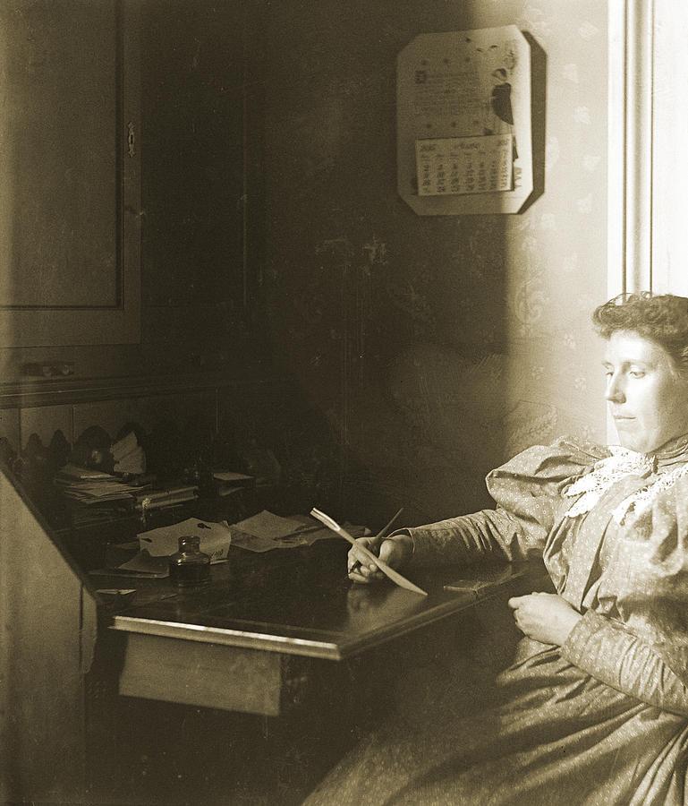 Furniture Photograph - Mrs W - April 1885 by Jan W Faul