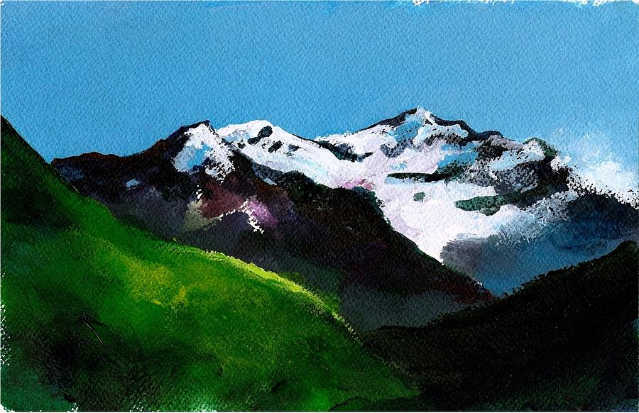 Outdoors Painting - Mt Aspiring by Rob M Harper