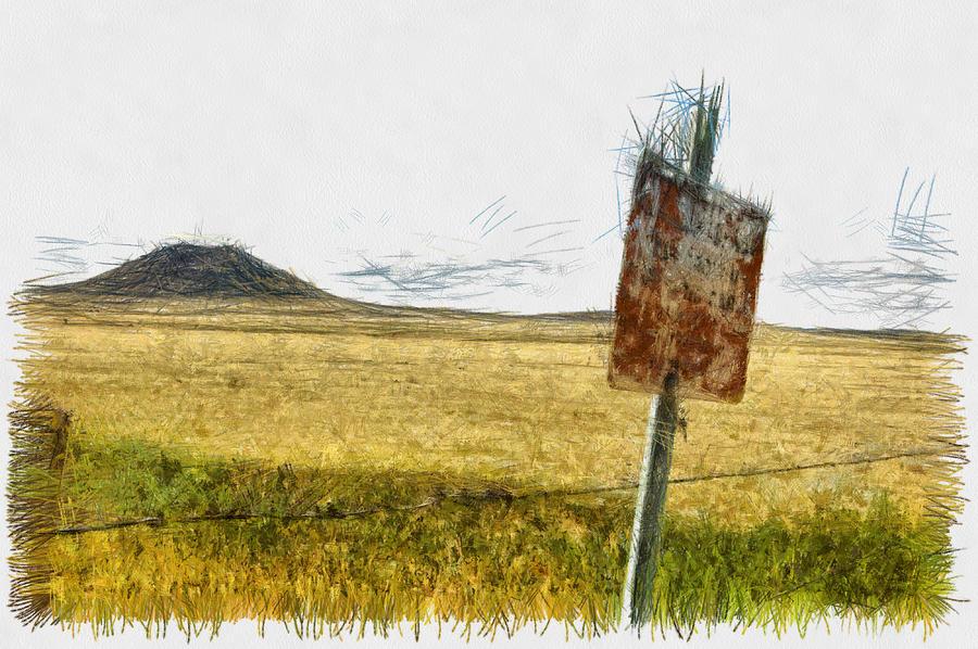 Mount Photograph - Mt Dora - Sketch by Nicholas Evans