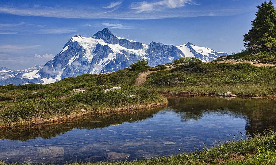 Mountains Photograph - Mt Shuksan by A A
