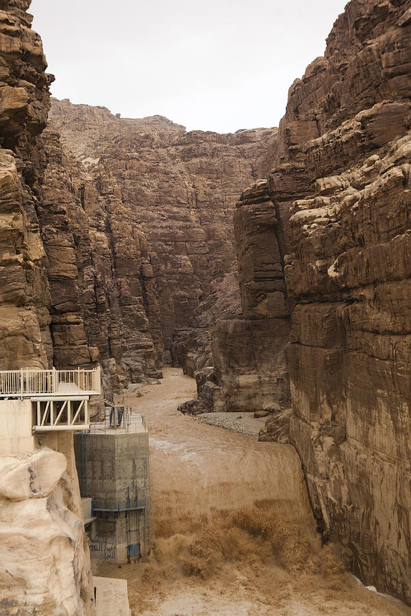 Wadi Mujib Photograph - Mud Filled Storm Water Scours by Taylor S. Kennedy