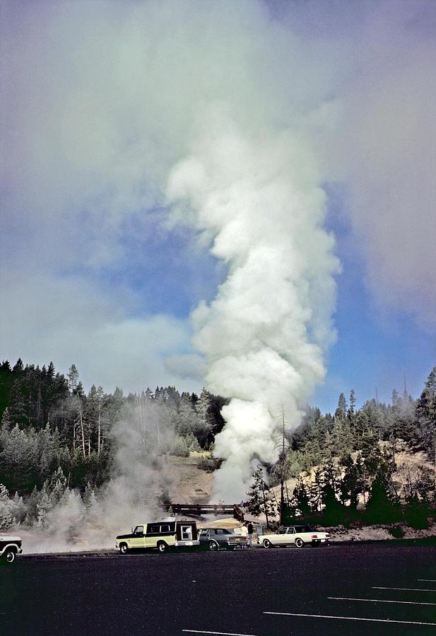 Caldera Photograph - Mud Volcano by Rod Jones