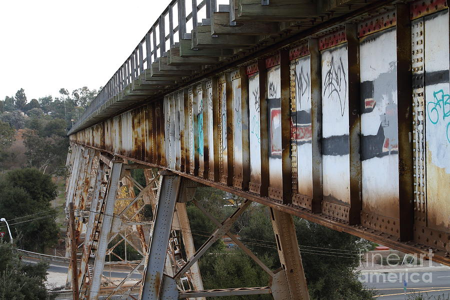 Transportation Photograph - Muir Railroad Trestle In Martinez California . 7d10237 by Wingsdomain Art and Photography