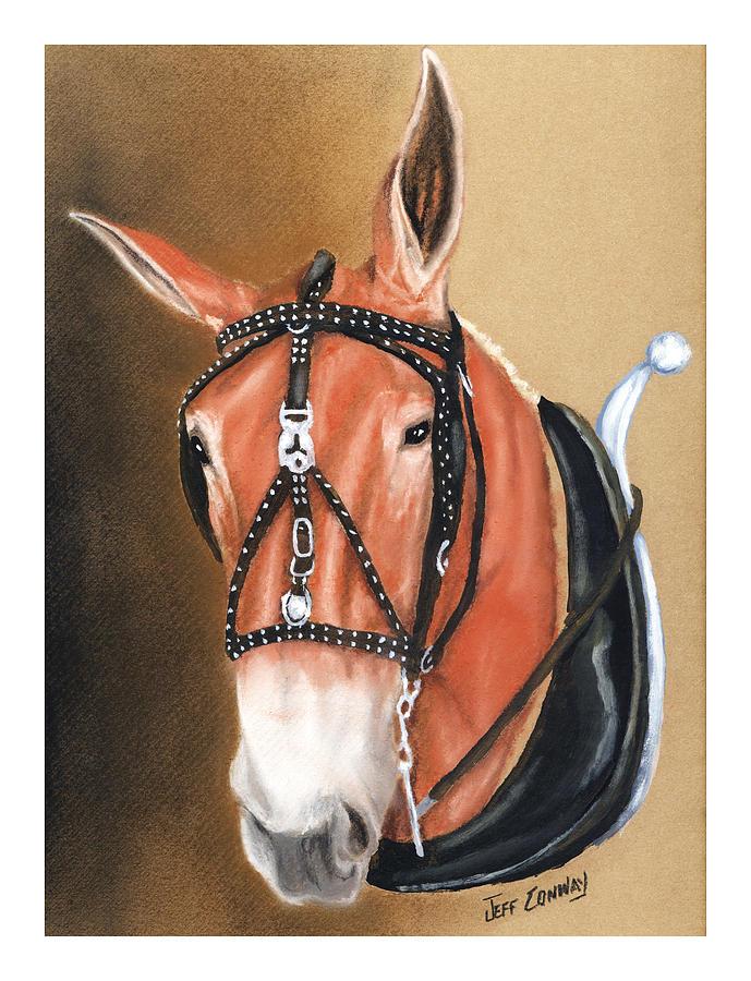 Mule Painting - Mule by Jeff Conway