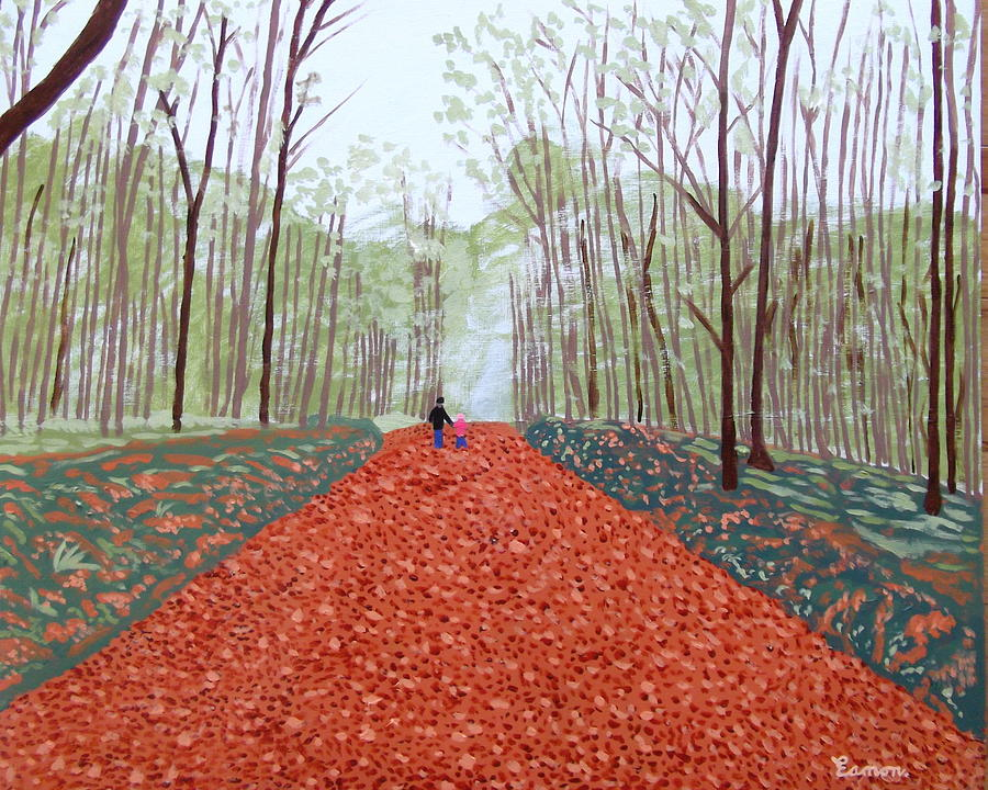 Autumn Painting - Mullaghmeen Forest In Autumn Time by Eamon Reilly
