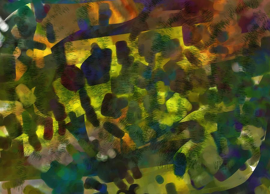 Abstract Painting - Multi-colored Abstract by Christine Crawford