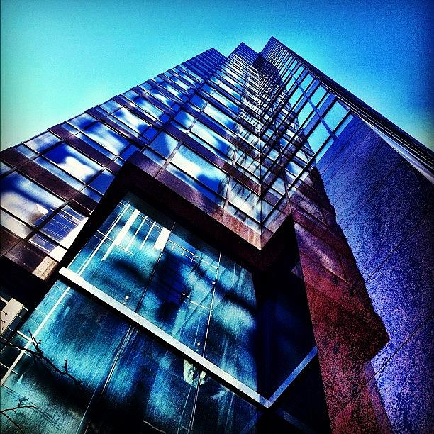 Blue Photograph - Multiple Reflections by Christopher Campbell