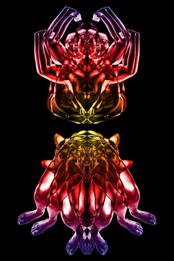 Psychedelic Digital Art - Multiplicity 1 by David Kleinsasser