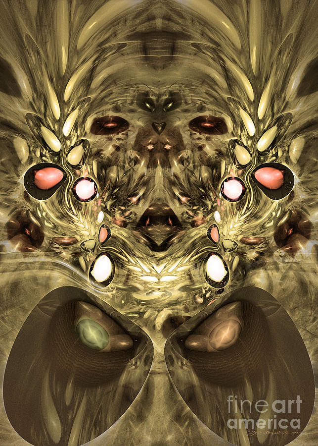 Fractal Digital Art - Mummy - Abstract Digital Art by Sipo Liimatainen