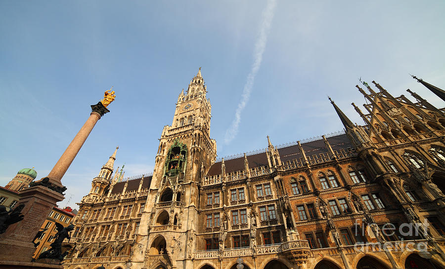 Munich Photograph - Munich City Hall by Holger Ostwald