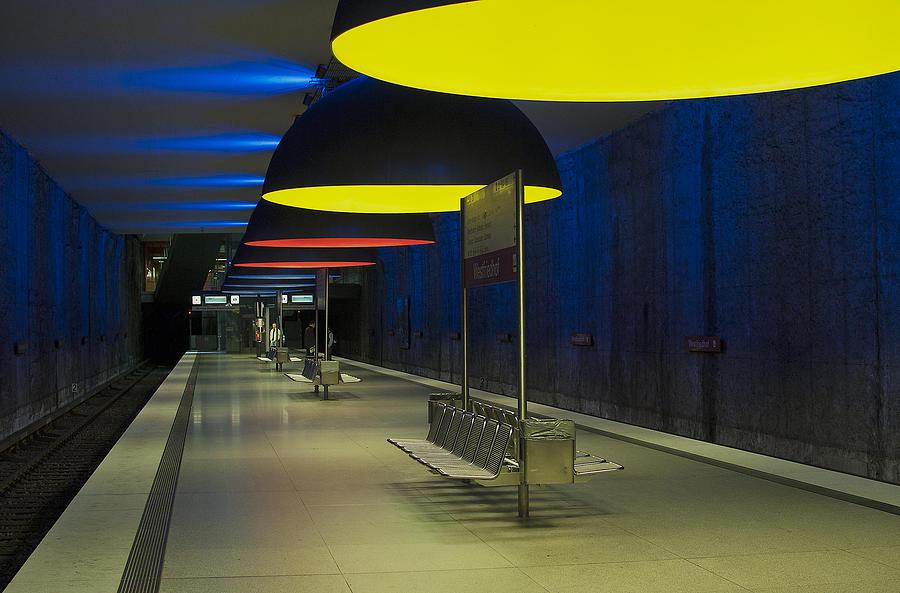 Subway Photograph - Munich Subway No.3 by Wyn Blight-Clark