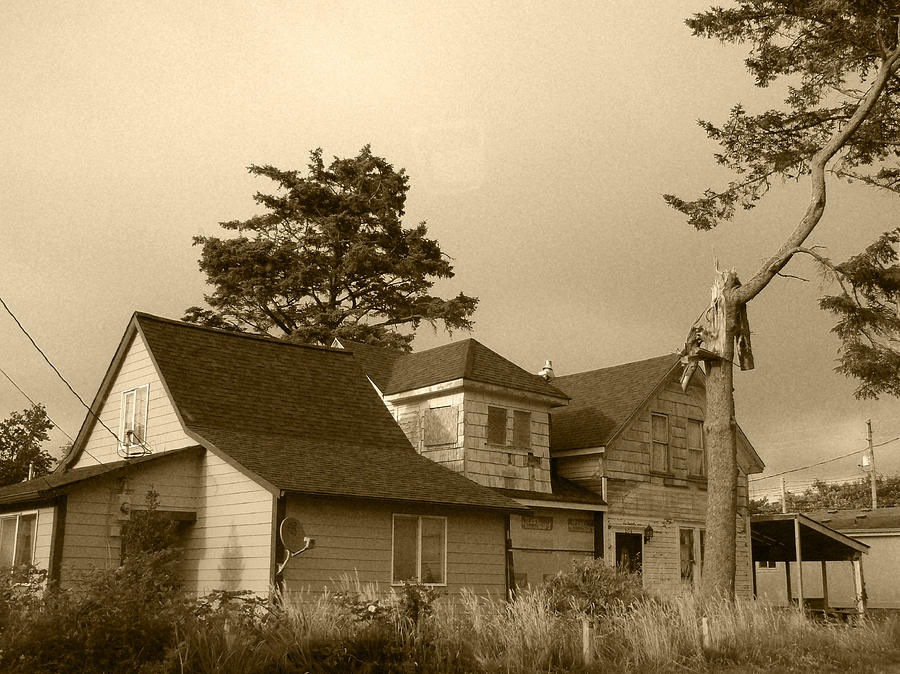 Haunted House Photograph - Munsters Or Adams Family by Kym Backland