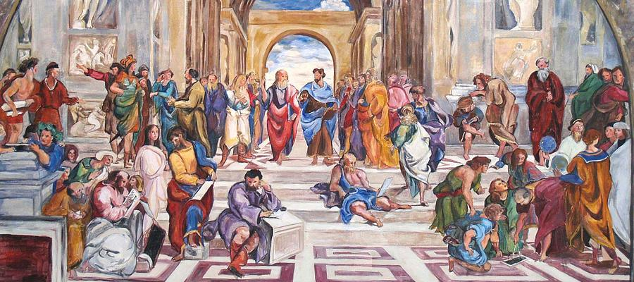 Painting Painting - Mural After Raphael by Becky Kim