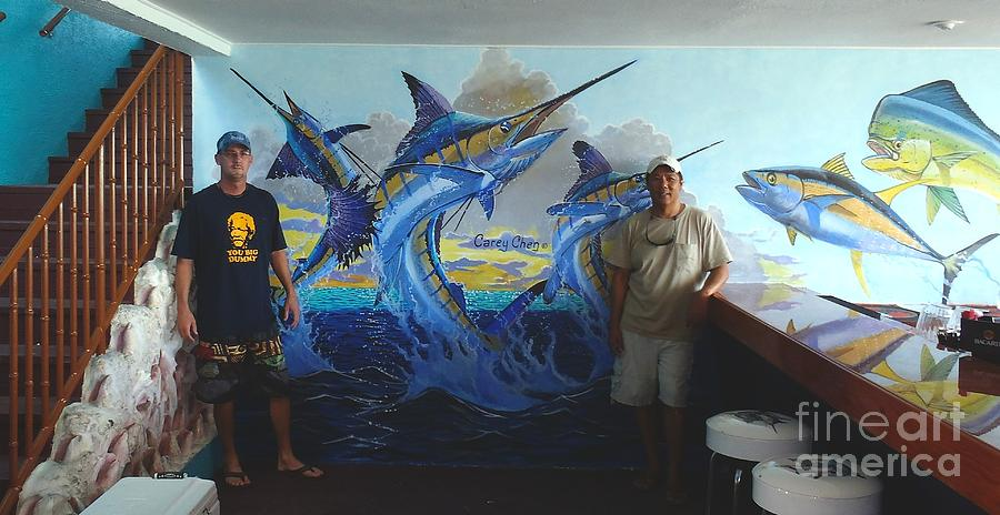 Mural Painting - Mural In Bimini by Carey Chen