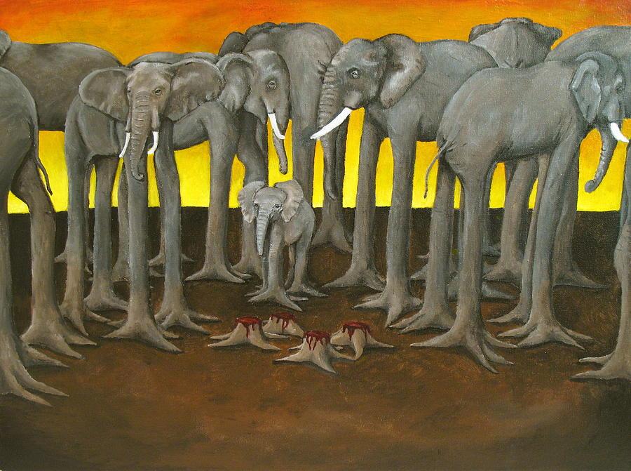 Elephants Painting - Murder The Wise Oh Ganesha by David  Nixon