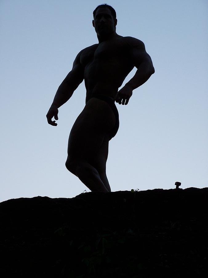 Marius Photograph - Muscleart Marius Greek Pose by Jake Hartz