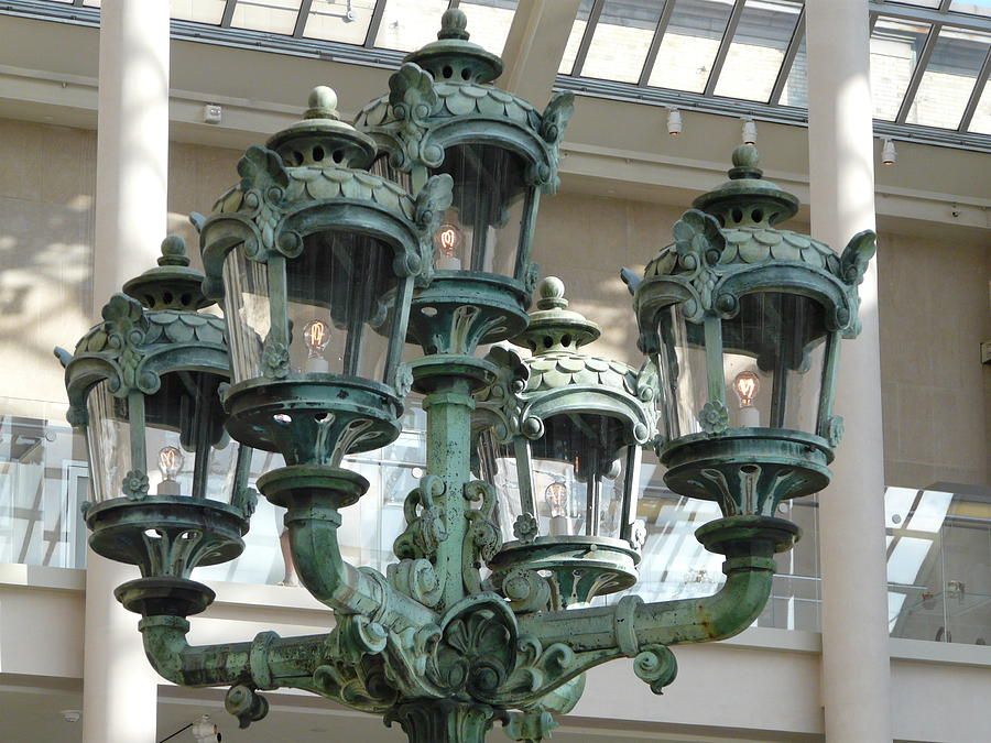 Lamp Photograph - Museum Lights by Valerie Ornstein