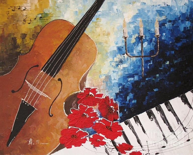 Music Painting - Music 2 by AmaS Art
