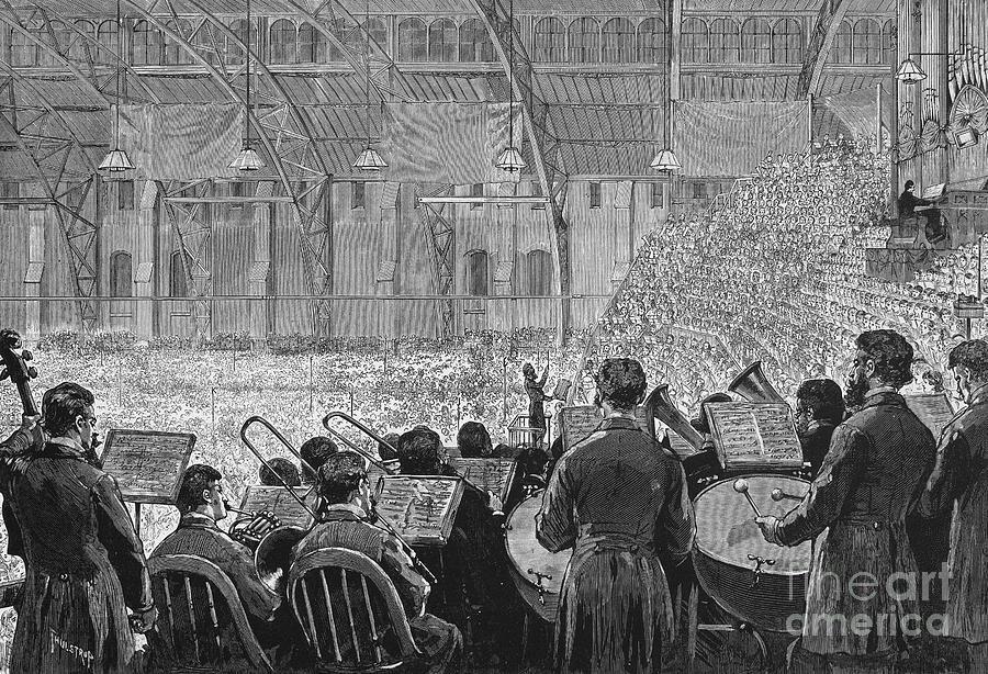 1881 Photograph - Music Festival, 1881 by Granger