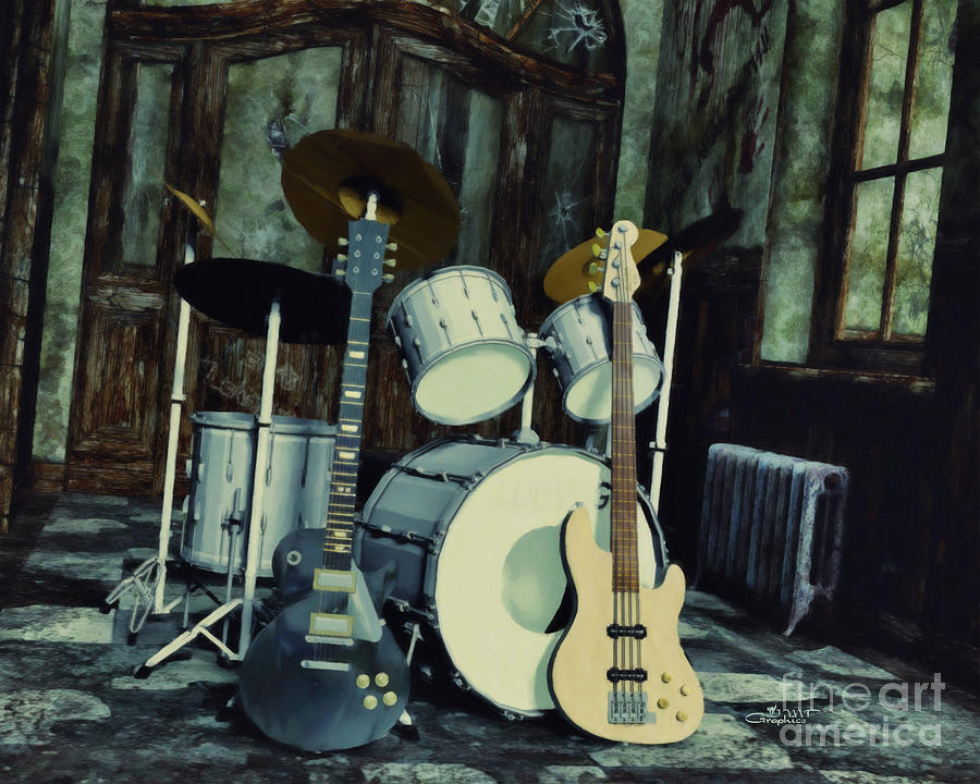3d Digital Art - Music Is Everywhere by Jutta Maria Pusl