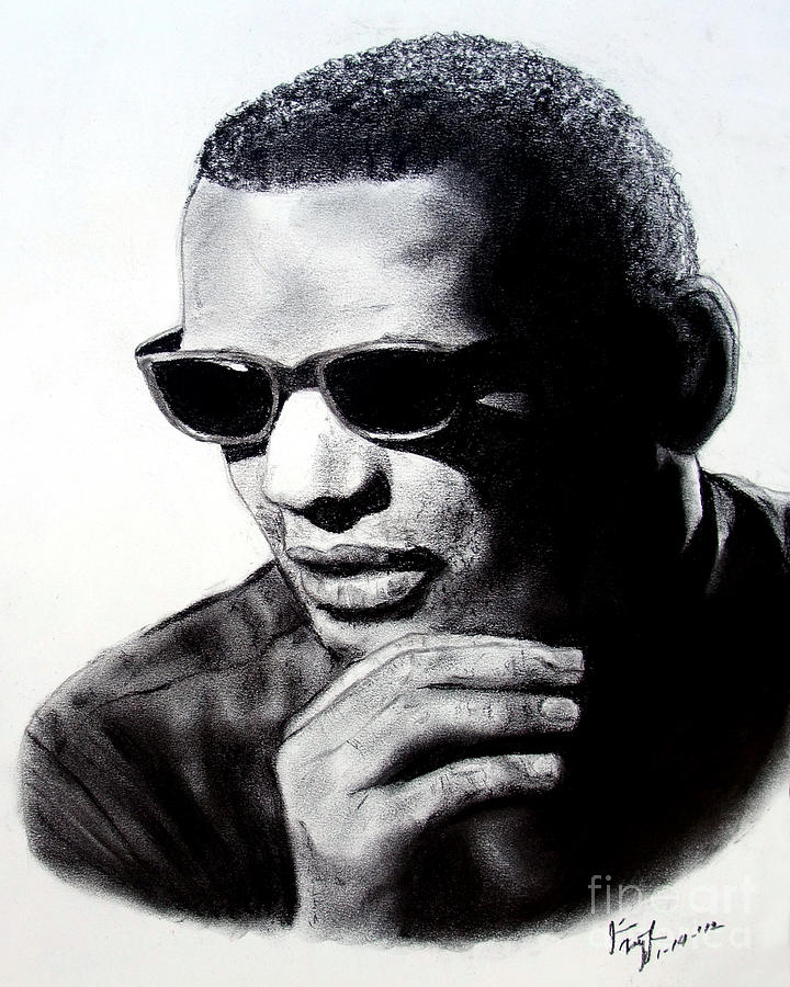 Ray Charles Painting - Music Legend Ray Charles by Jim Fitzpatrick