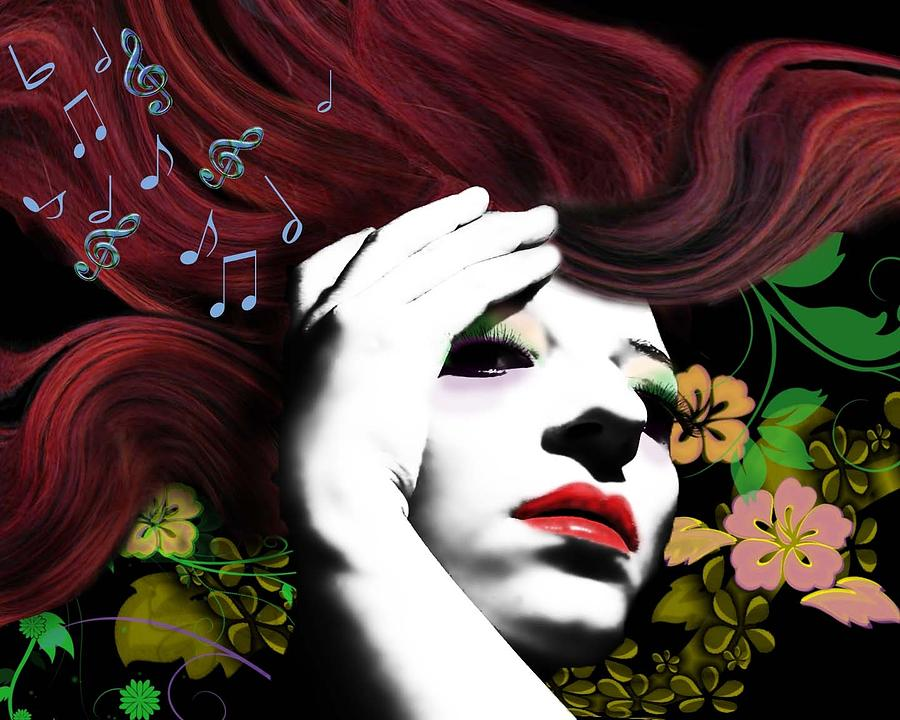 Music Digital Art - Music Muse by Diana Shively
