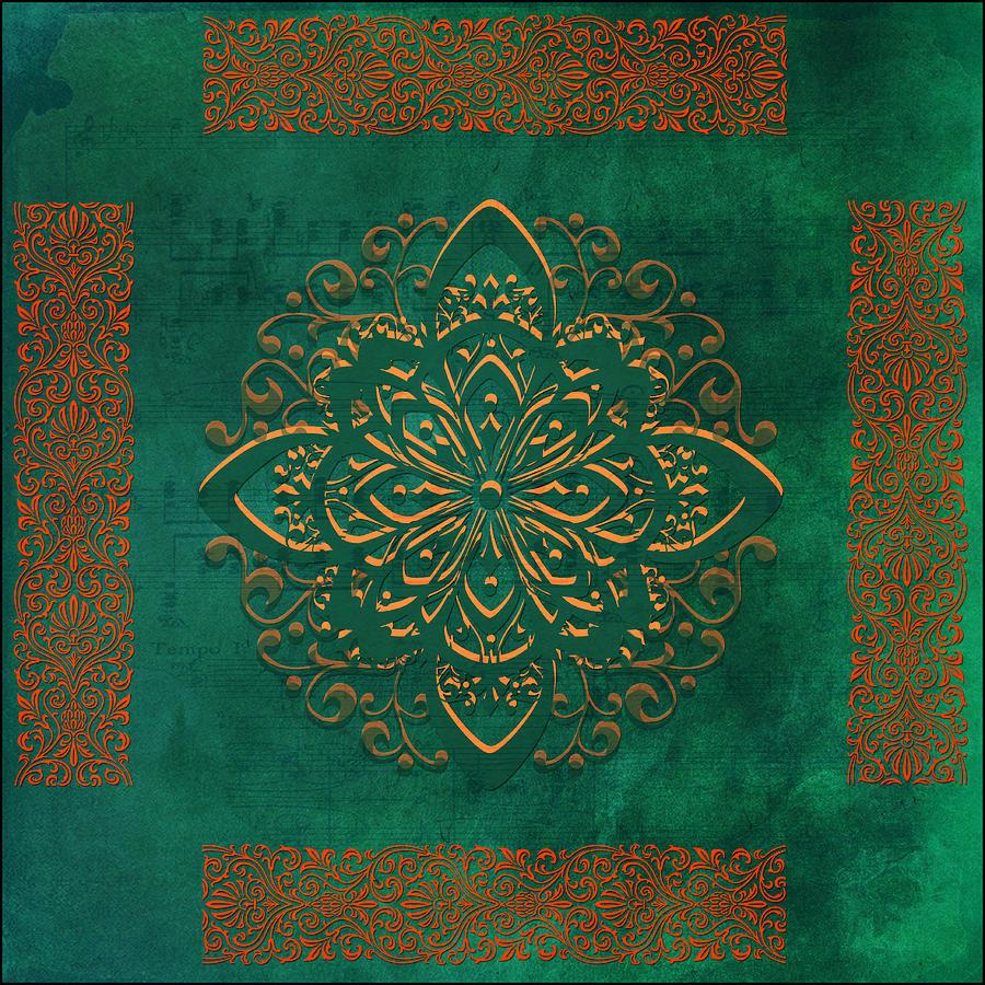 Tile Digital Art - Musical Autumn Tile by Bonnie Bruno