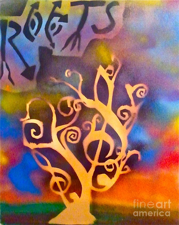 Tree Painting - Musical Roots by Tony B Conscious