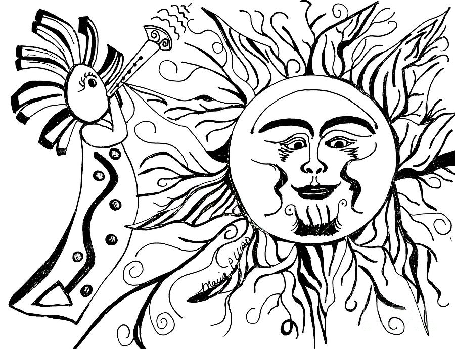 Musical Sunrise Drawing By Maria Urso