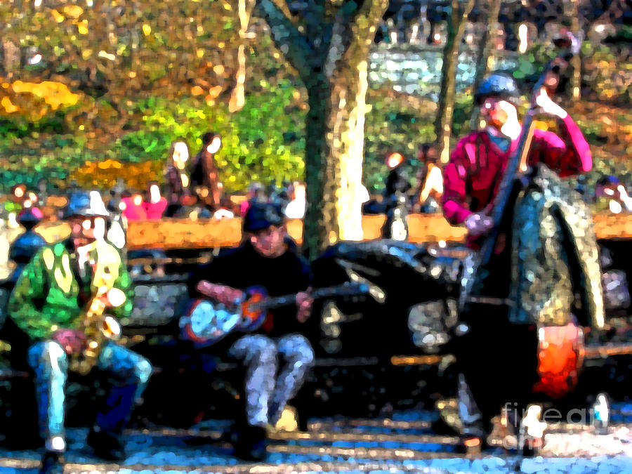 People Photograph - Musicians In Central Park by Anne Ferguson