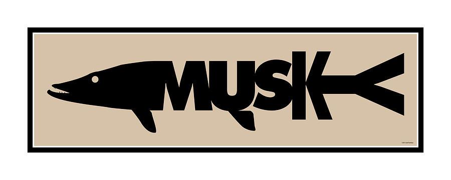 Musky Digital Art - Musky by Geoff Strehlow