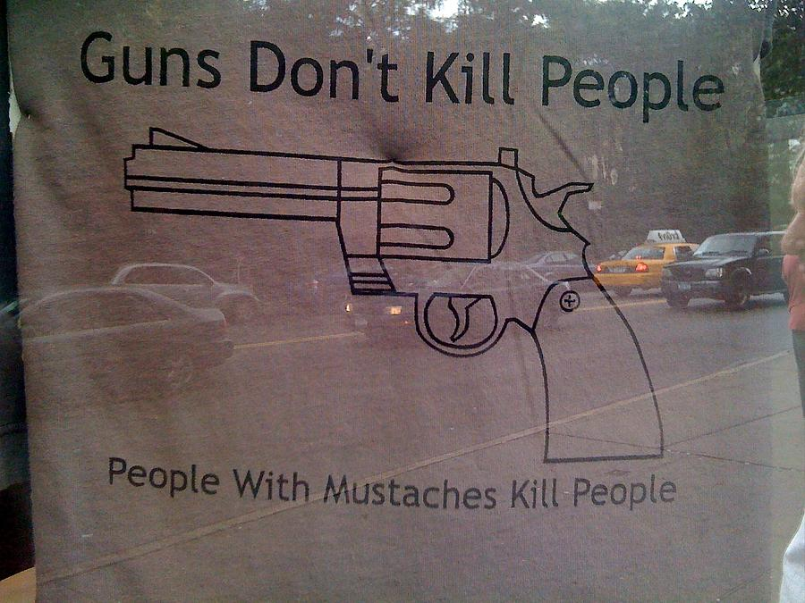 New York City Photograph - Mustache Killers by Jerry Patterson