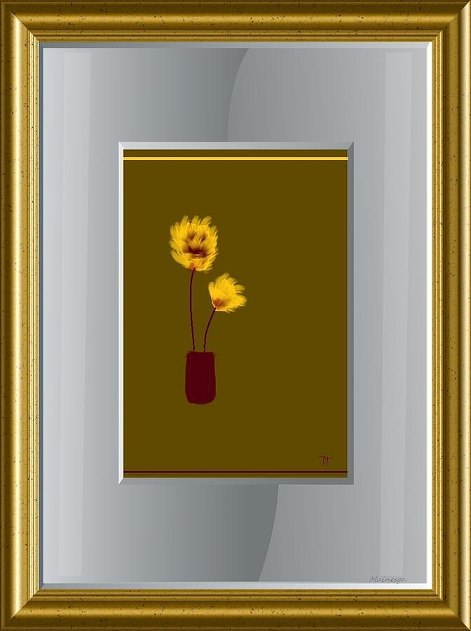 Paint Digital Art - Mustard Vase by Ines Garay-Colomba