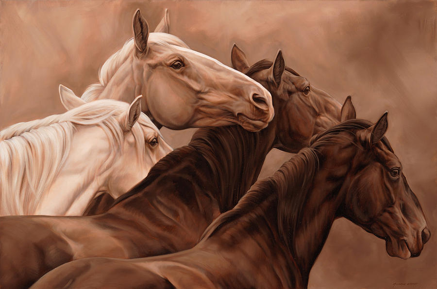 Michelle Grant Painting - Mutual Support by JQ Licensing