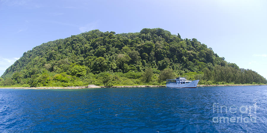Solomon Islands Photograph - Mv Spirit Of Solomons Moored In Front by Steve Jones
