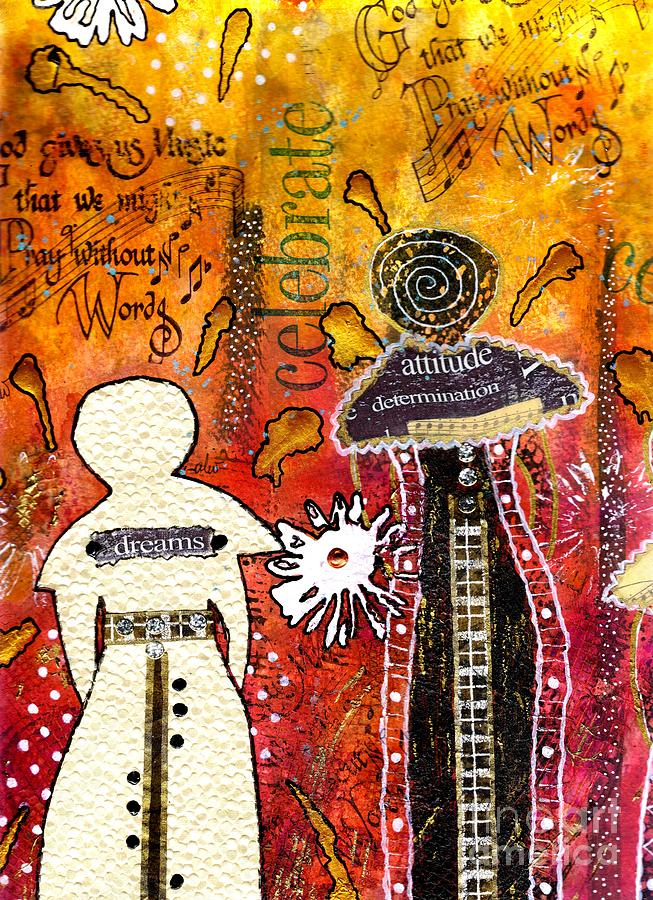 My Angelic Sistah And I Are Free To Dream Mixed Media