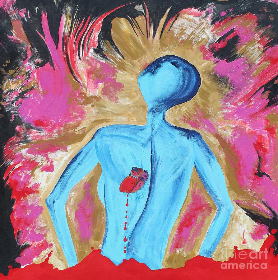 Self Painting - My Bleeding Heart by Stephanie  Schuster