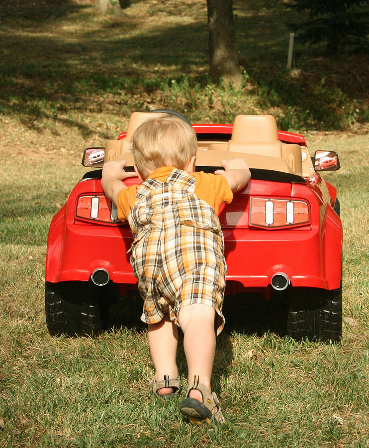 Child Photograph - My Car by Sylvia Hart