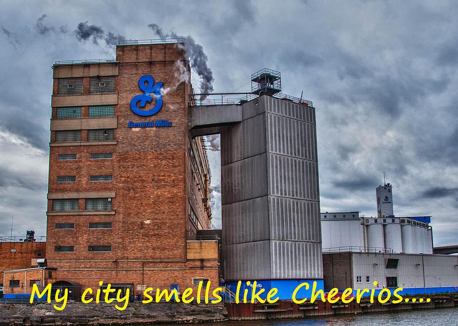 Buffalo Photograph - My City Smells Like Cheerios by Guy Whiteley
